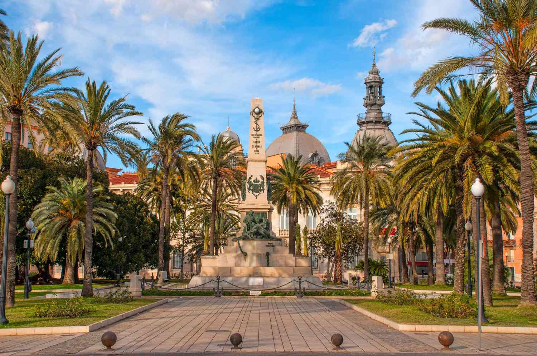 Monument in Cartagena, Spain
