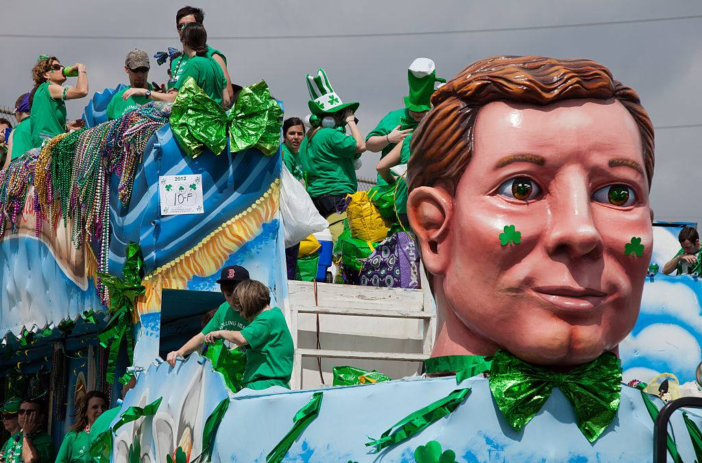 St. Patricks Day Parade in Metairie, Suburb of New Orleans