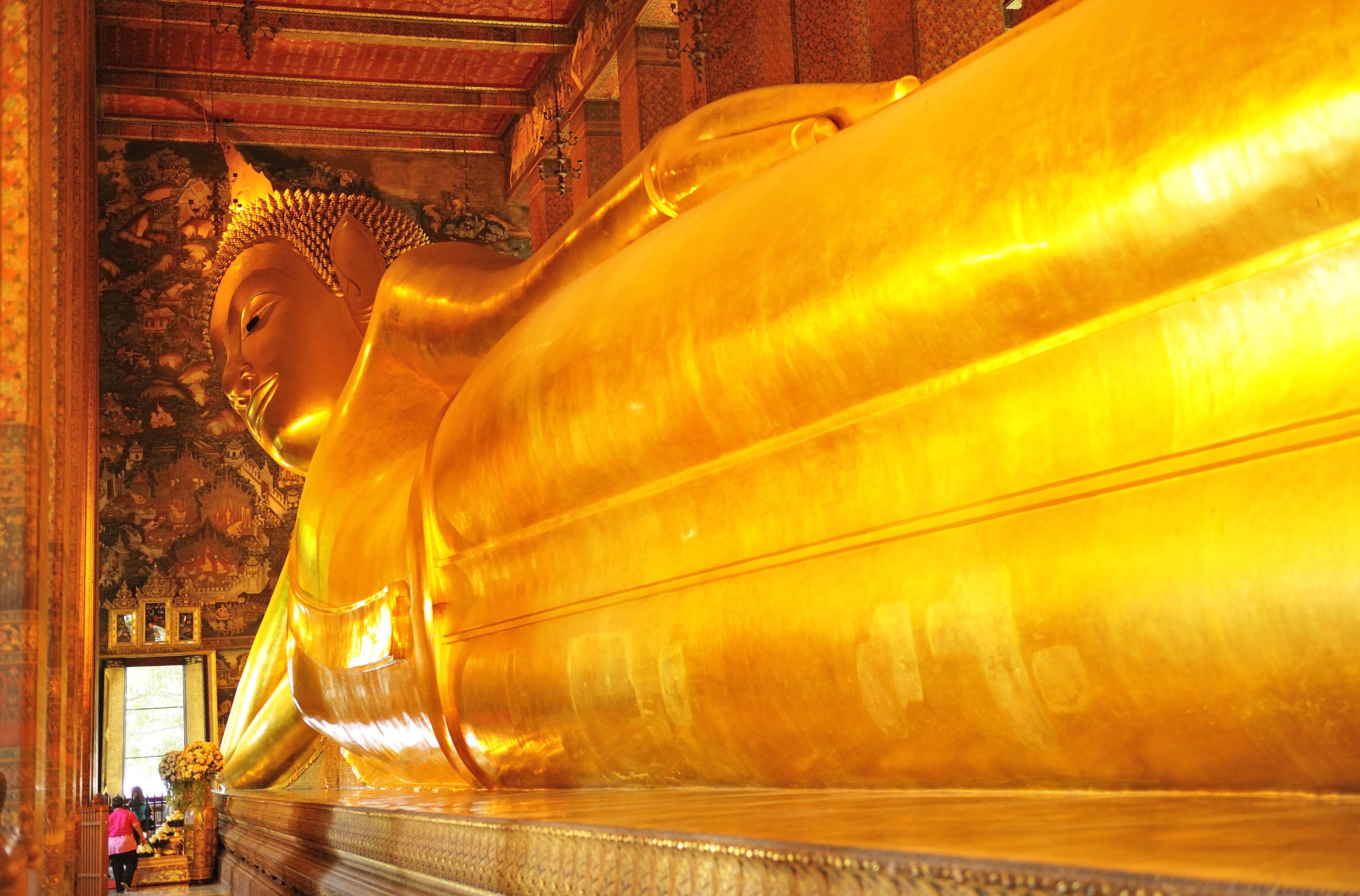 The reclining Buddha statue in Wat Pho, Bangkok