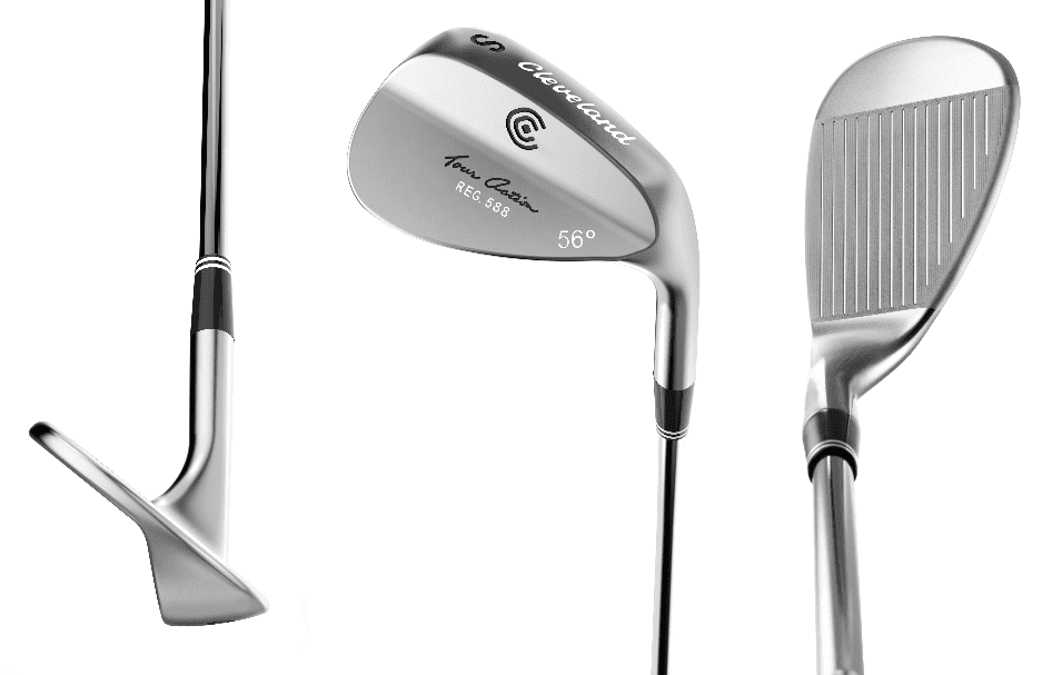 Three different views of golf wedges