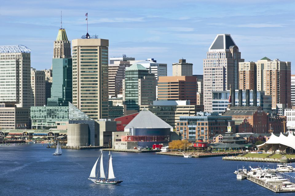 Baltimore City Skyline and Inner Harbor