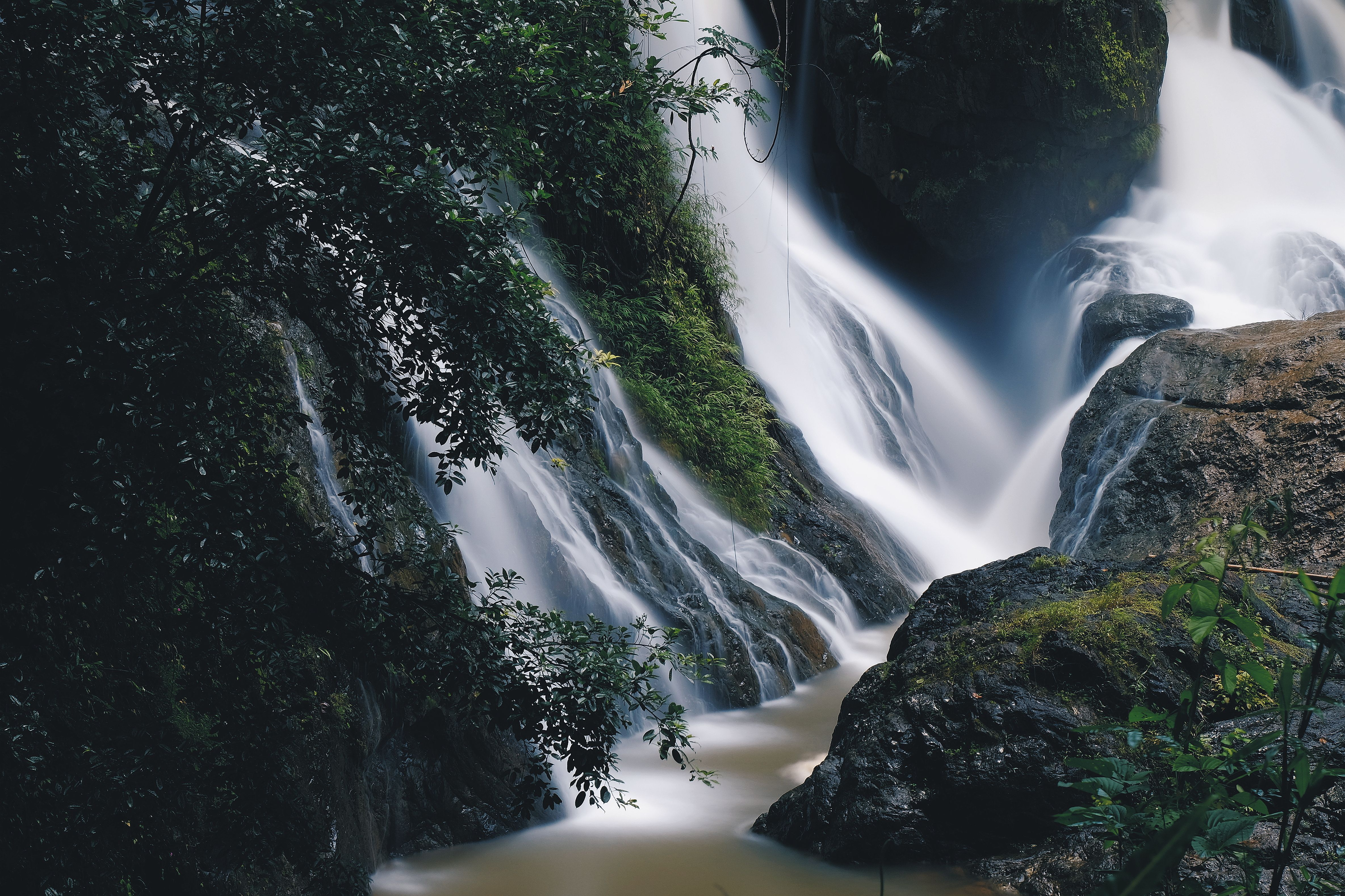 Waterfall in the forest in Pai, Thailand
