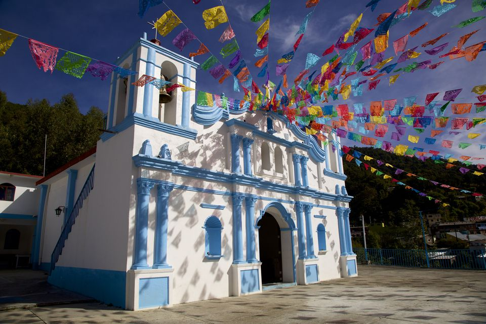 Church in Sierra Norte, Oaxaca, Mexico