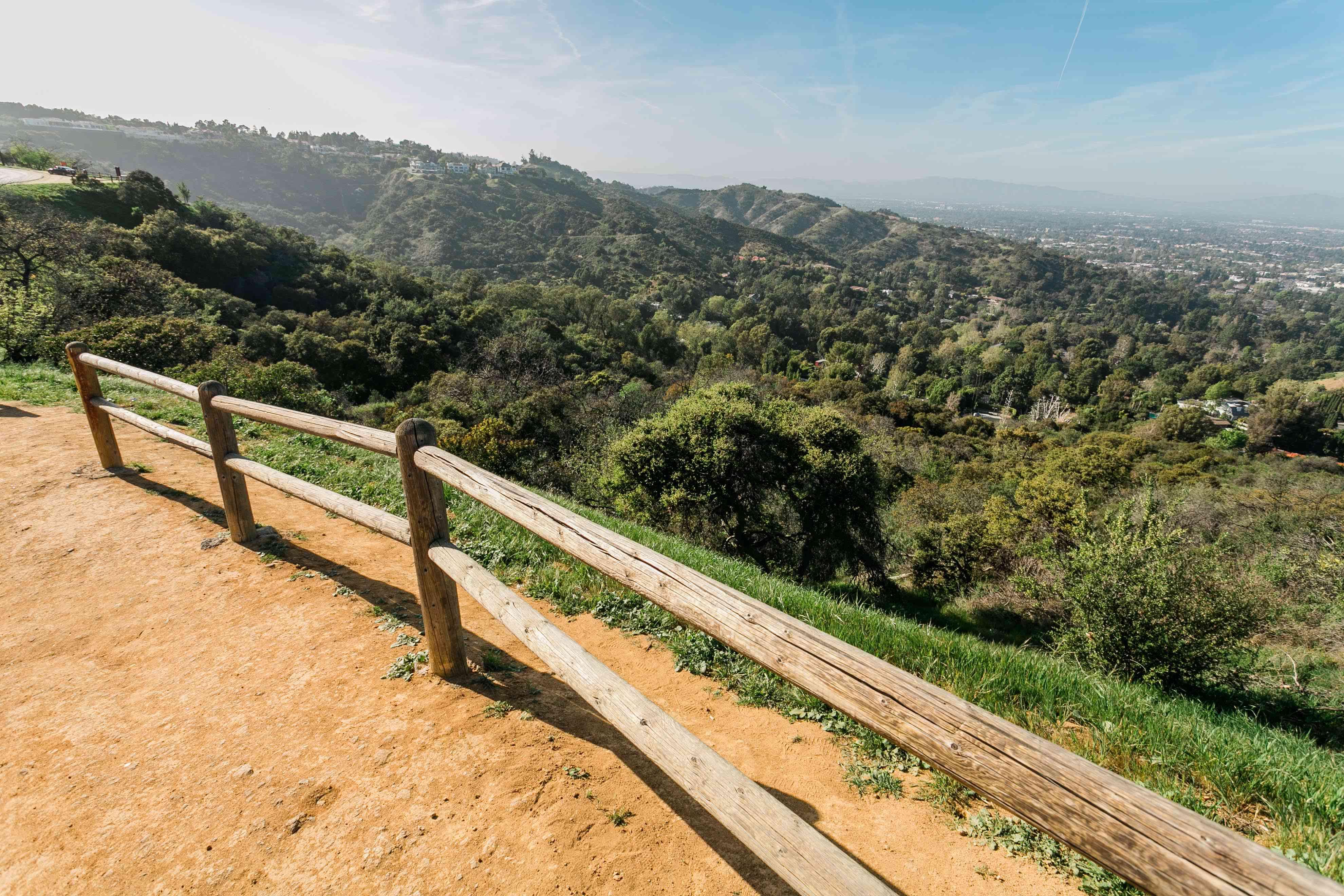 Mulholland Drive Overlook in LA