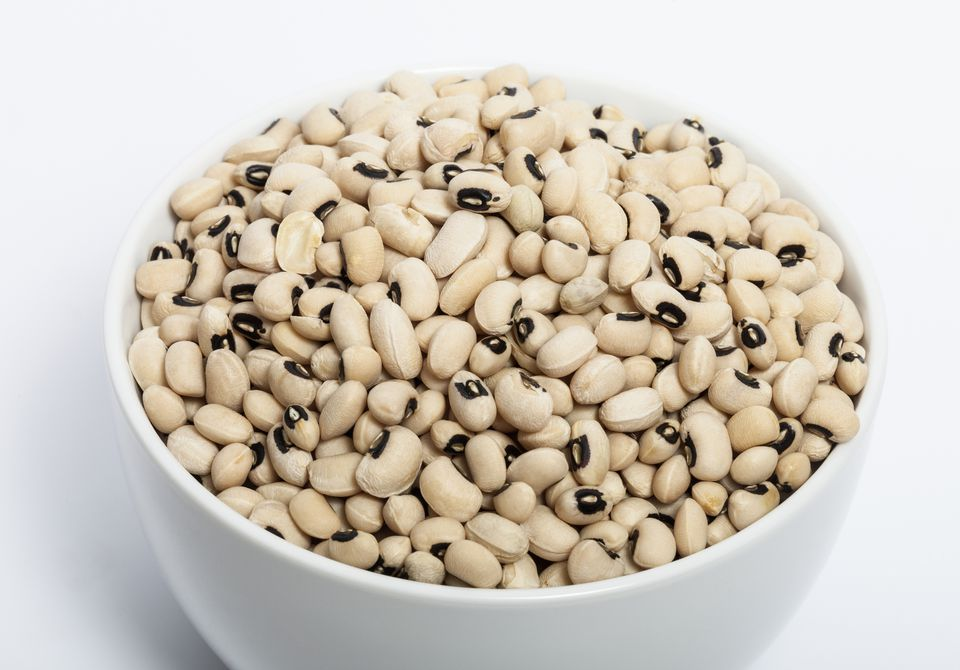 Dried Black Eye or Black-Eyed Peas in a bowl