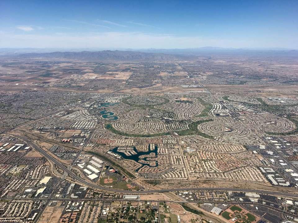 overhead view of peoria arizona