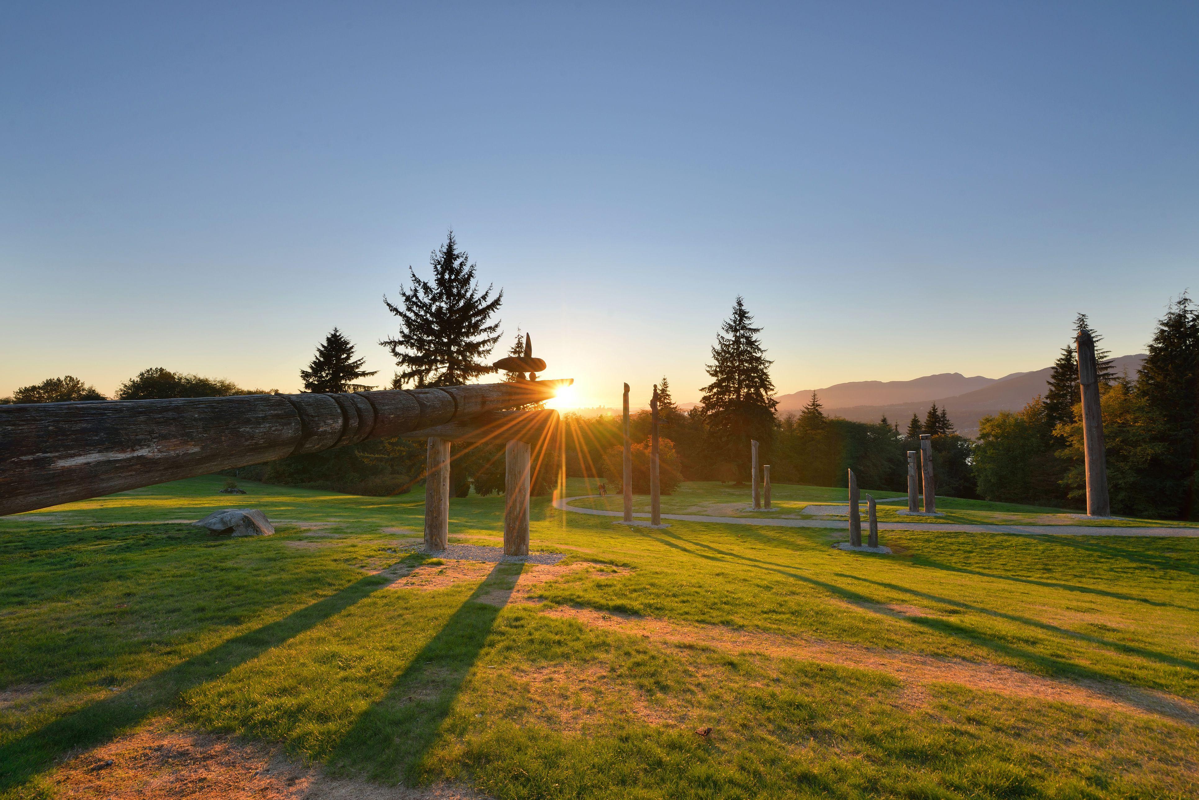 Burnaby Mountain Park sunset