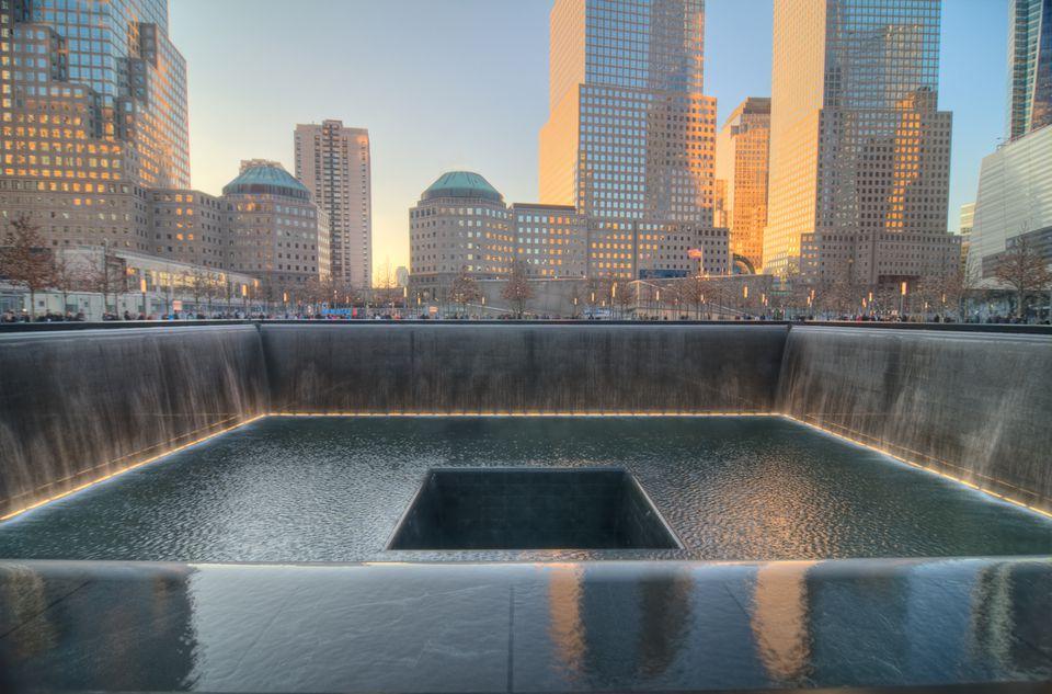 September 11 Memorial waterfall