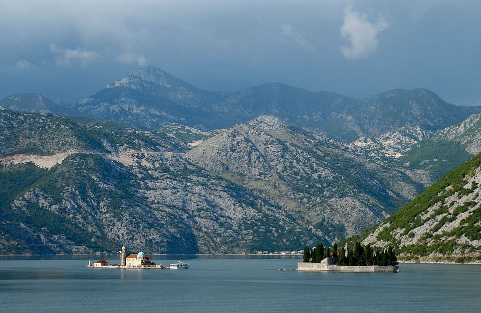 The Bay of Kotor, on the Adriatic sea in Monenegro