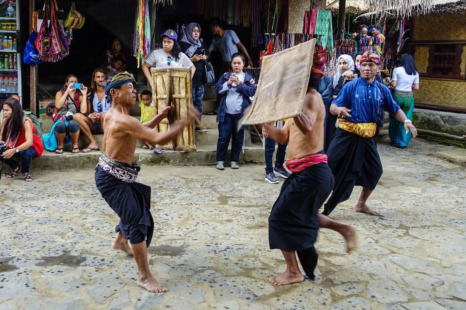Peresean duel, Sasak Sade Village, Lombok