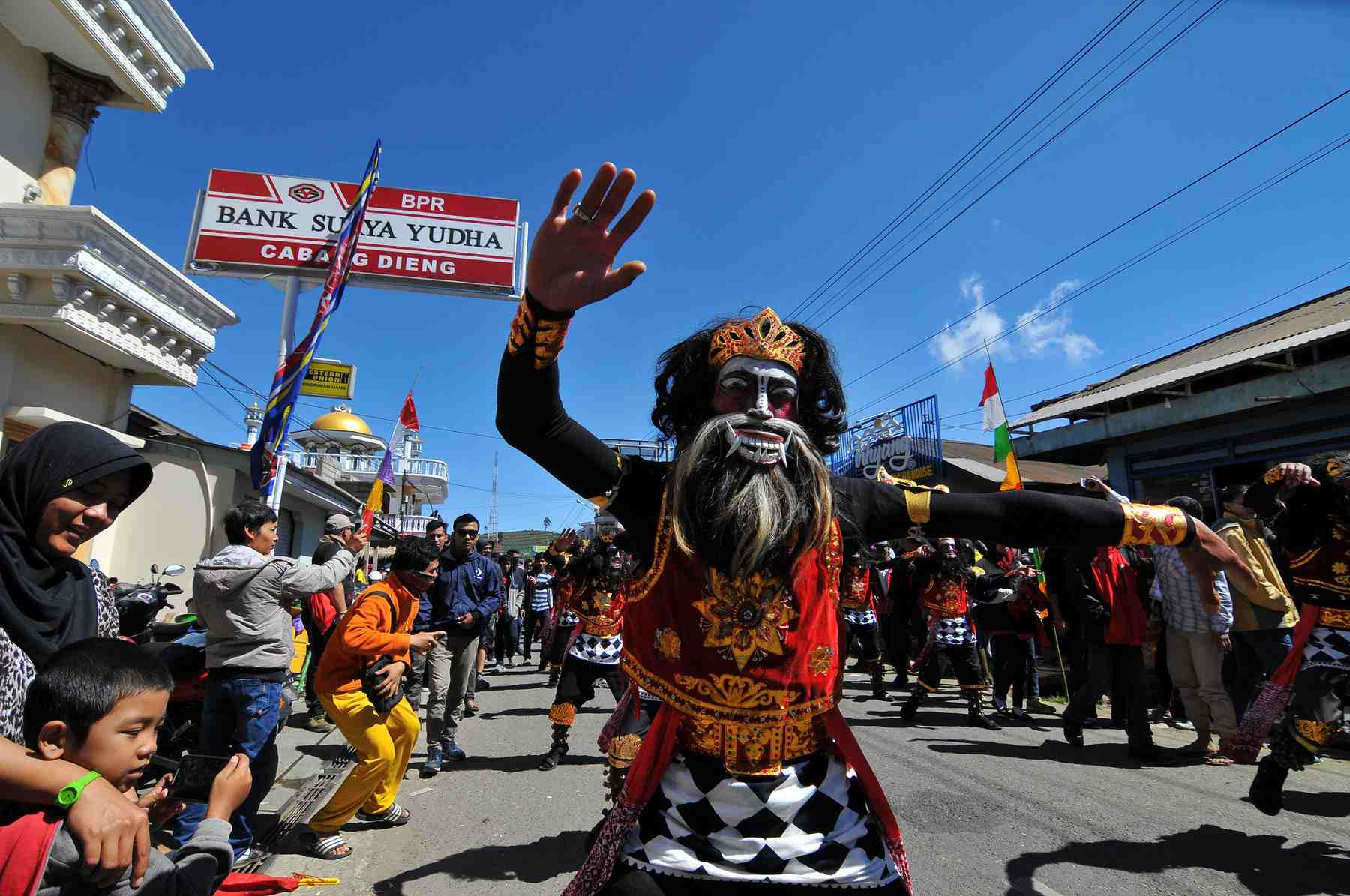 Dieng Culture Festival procession, Indonesia