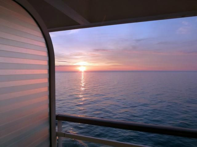 Sunset over the North Atlantic from the Celebrity Infinity