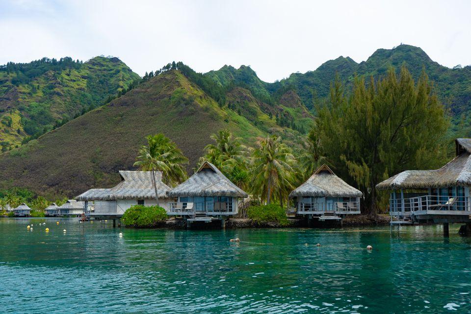 Overwater Bungalows en Tahití