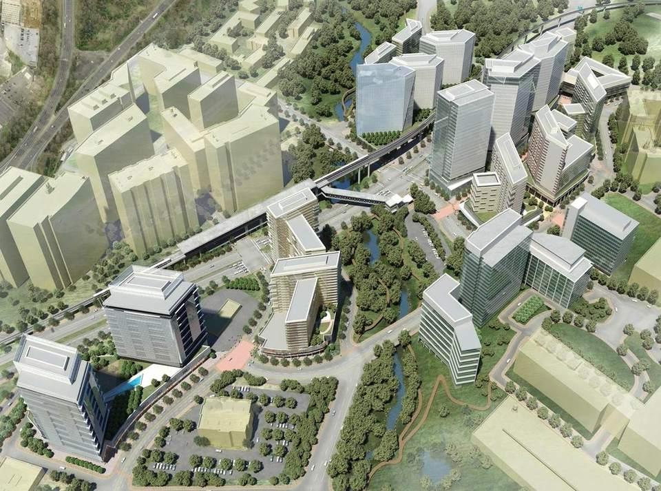 City Line Rendering - Aerial View