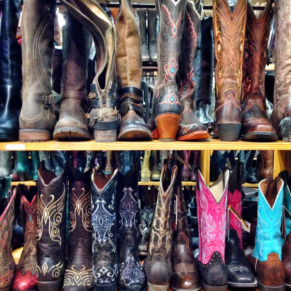 c293a00226b Rows of cowboy boots on shelves in Allen s Boots