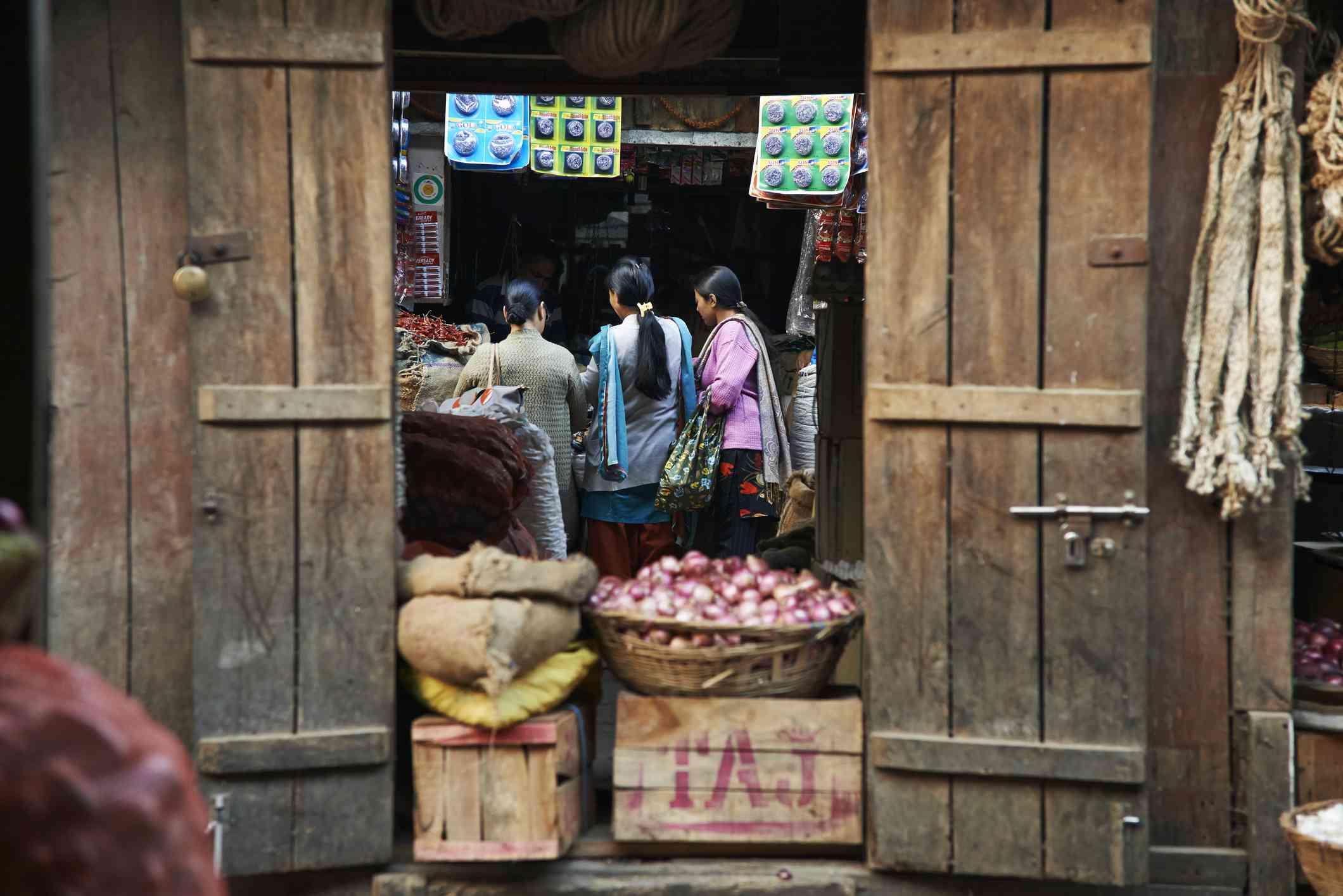 Darjeeling local market.