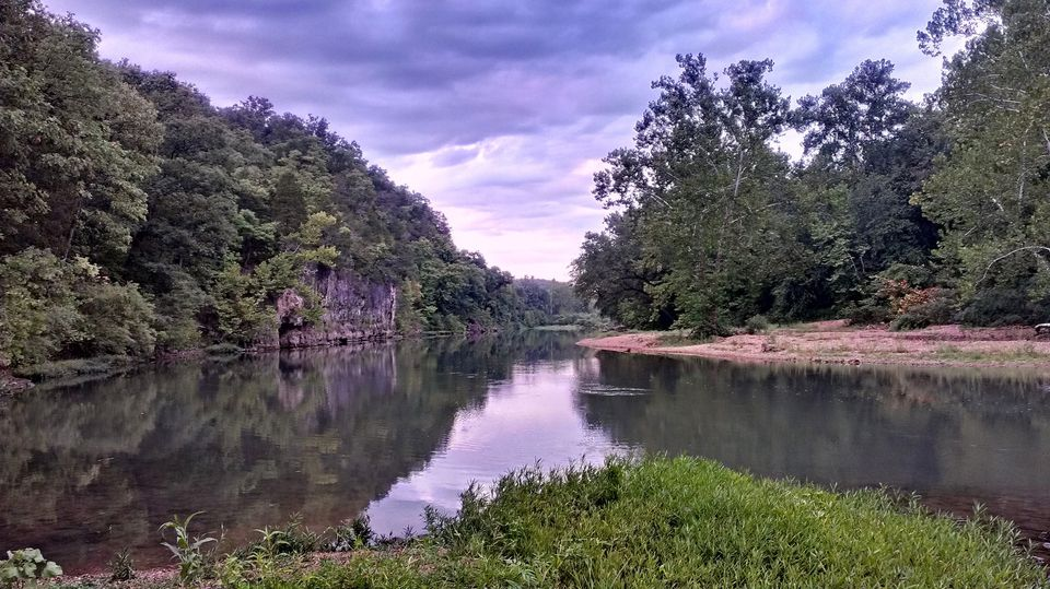 Meramec River, running past Onondaga Cave State Park, near Leasburg, Missouri