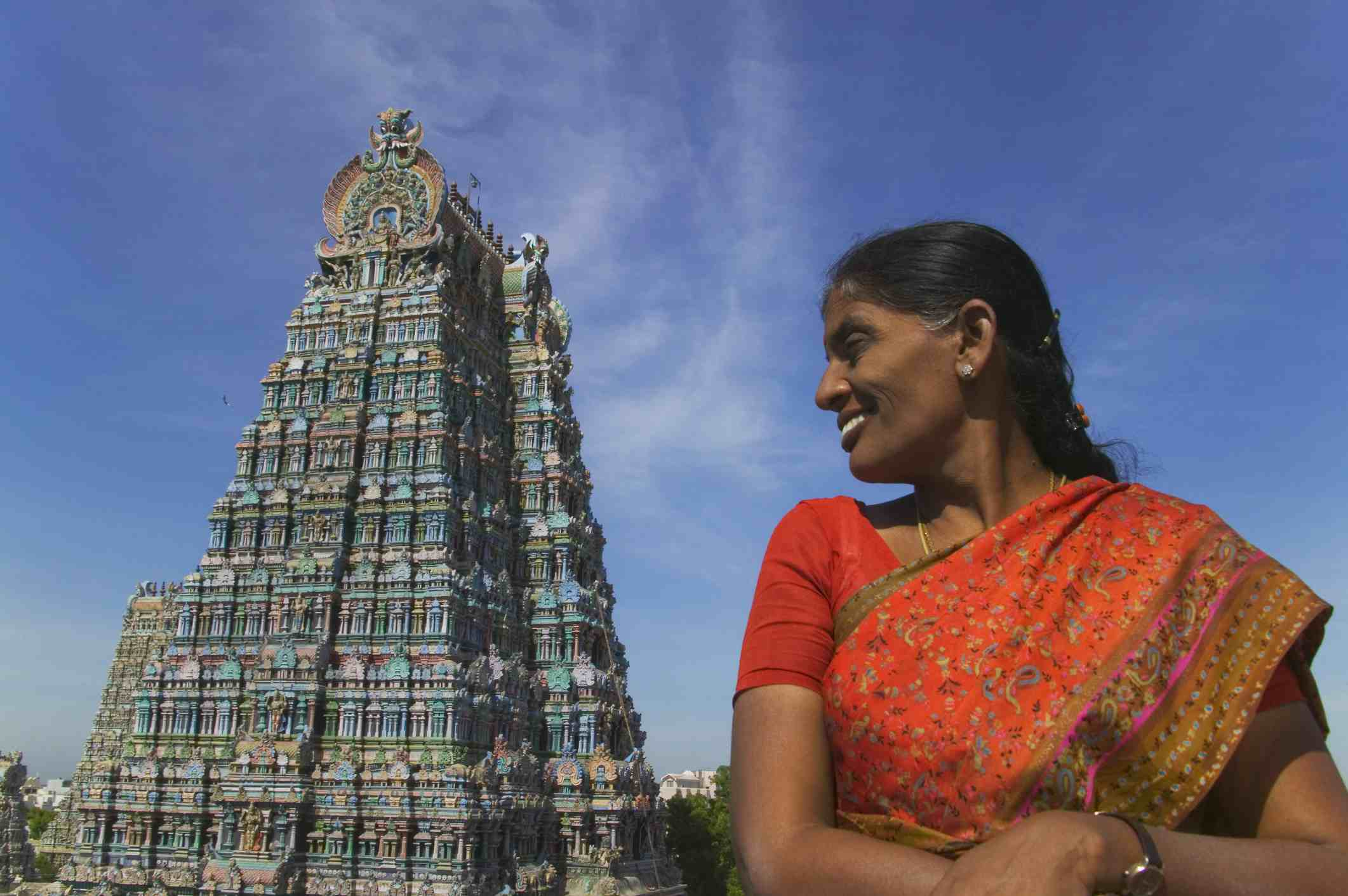 Woman in Tamil Nadu.