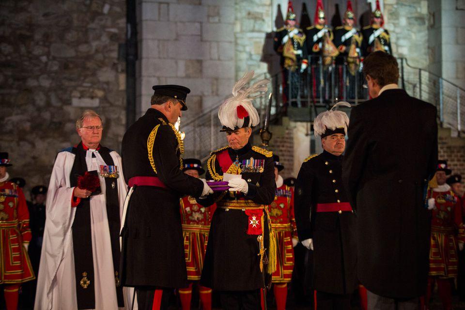Ceremonia de la torre de los Cayos de Londres