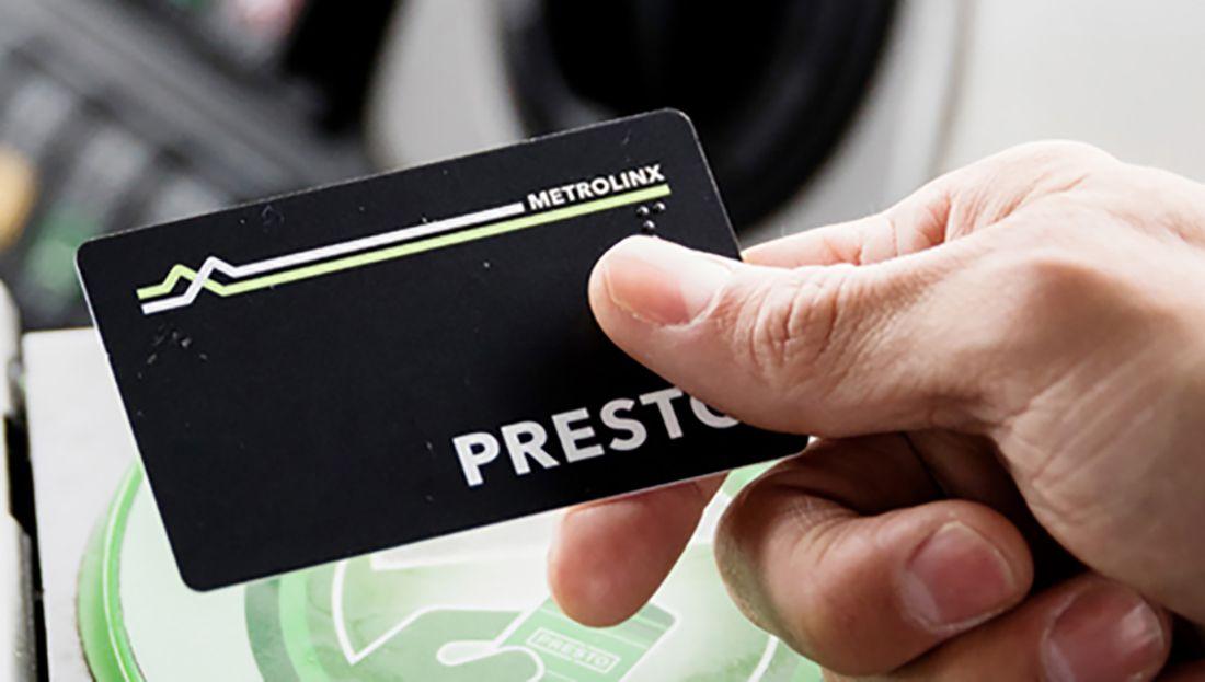 Pay for GO Transit using Presto