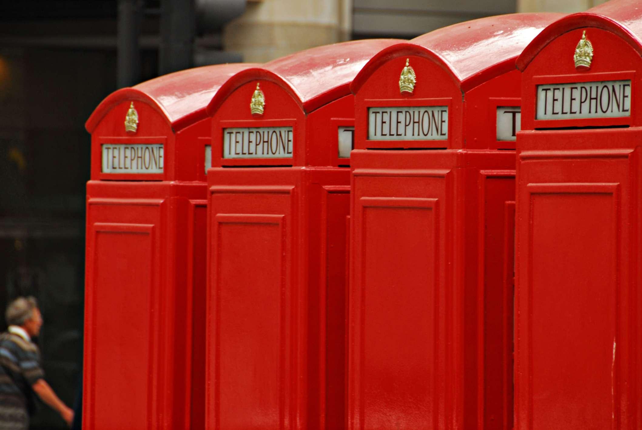 Cabinas telefónicas rojas