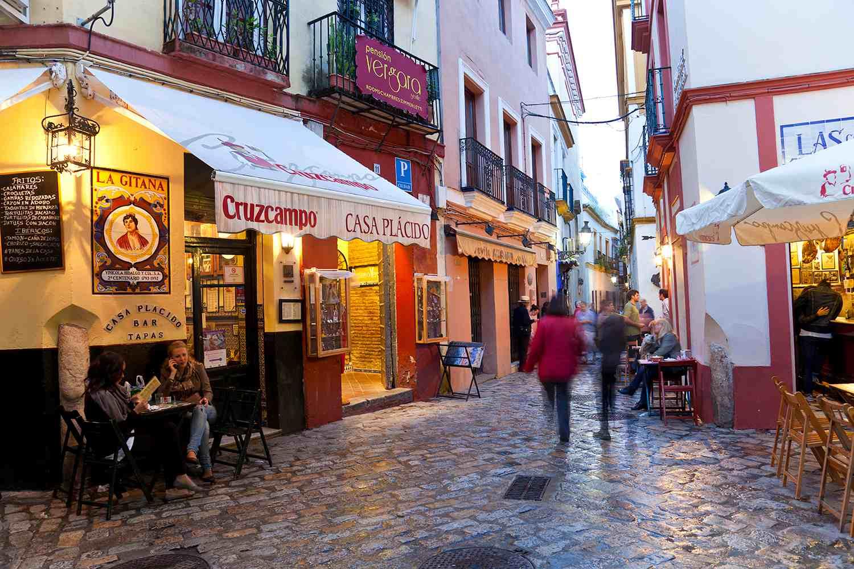 Restaurant & Tapas Bar, Seville, Andalucia, Spain.