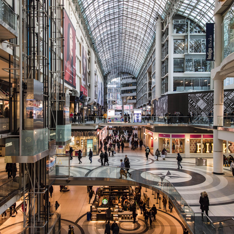 Inside the Toronto Eaton Center