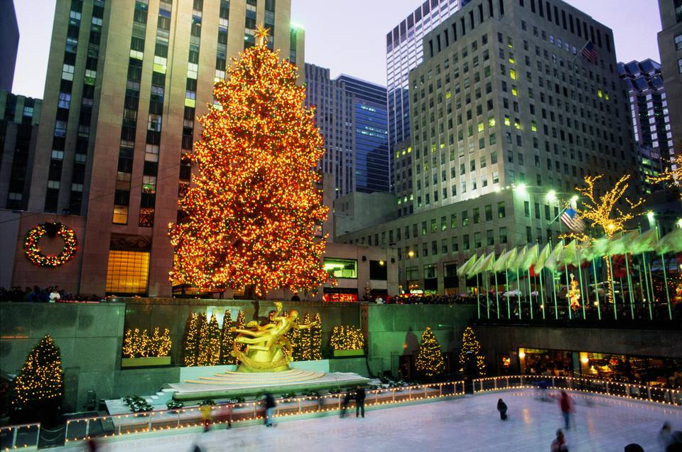 rockefeller center christmas new york city new york