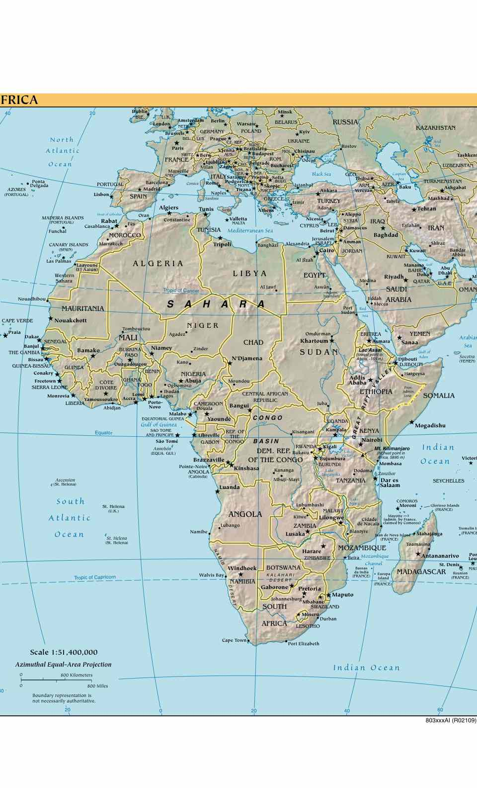Africa Map - Africa Reference Map