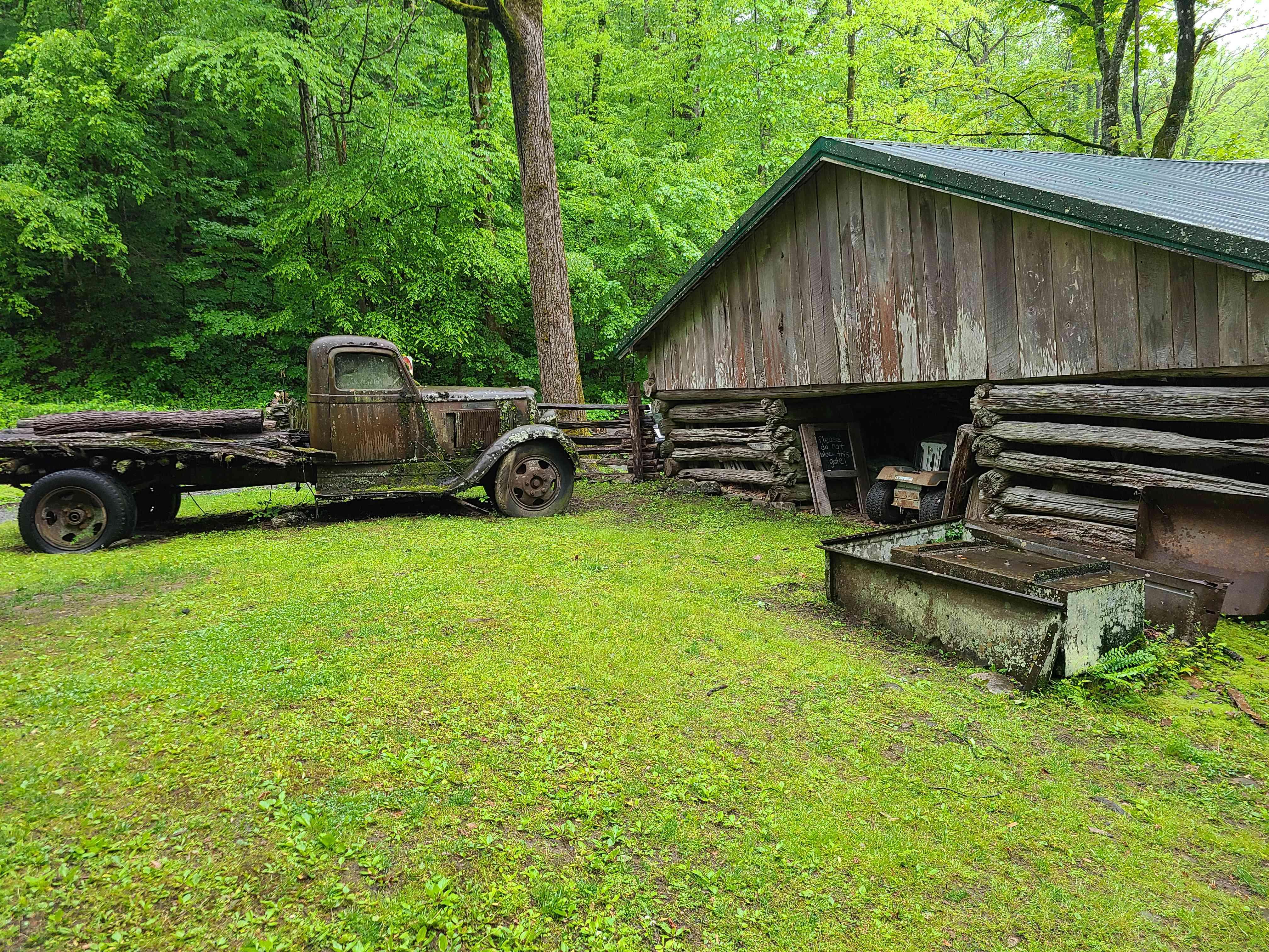Appalachian scene at Ely's Mill near Gatlinburg, Tennessee