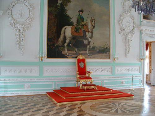 Throne Room of Peterhof, Peter the Great's Summer Palace near Saint Petersburg