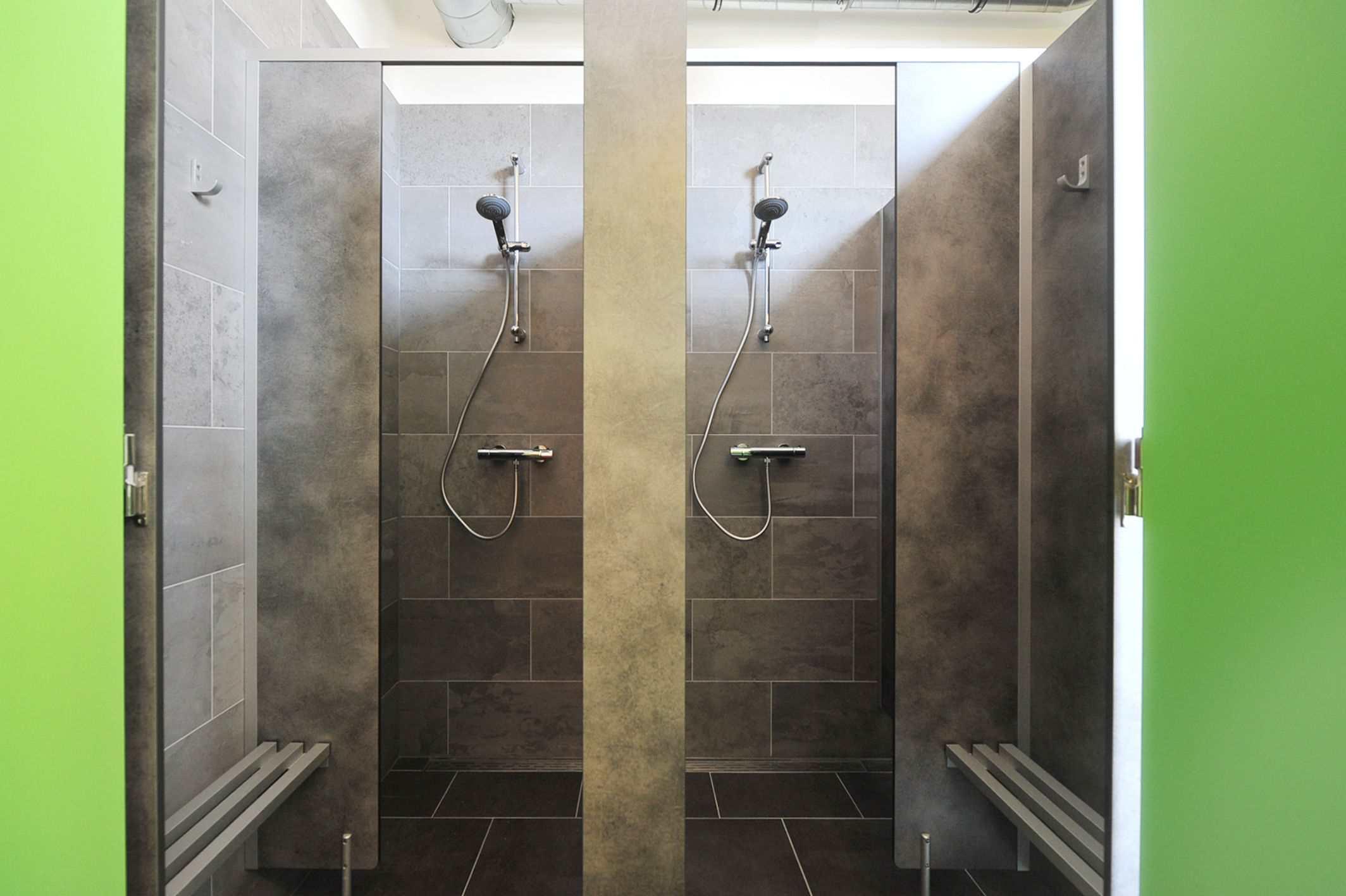 Communal Showers at Kingkool The Hague City Hostel
