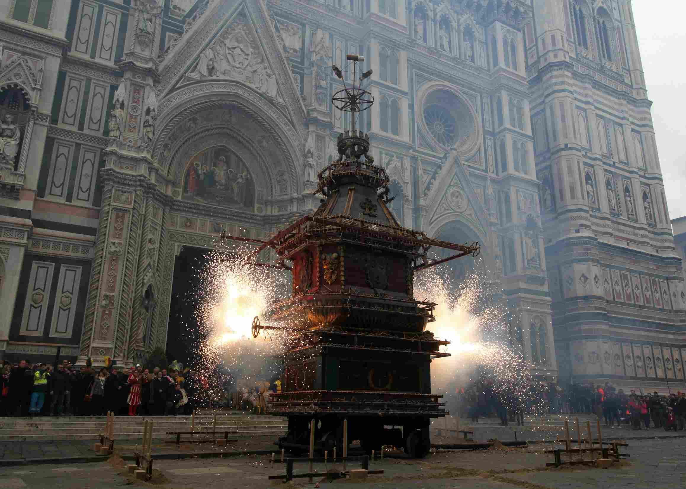 Firework Display At Scoppio Del Carro