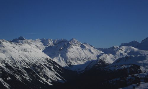 Looking off the side of Blackcomb Mountain.
