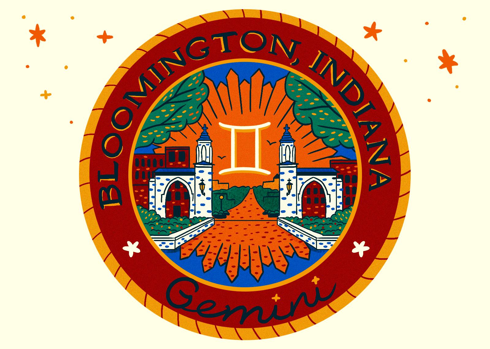 Illustration of Bloomington Indiana