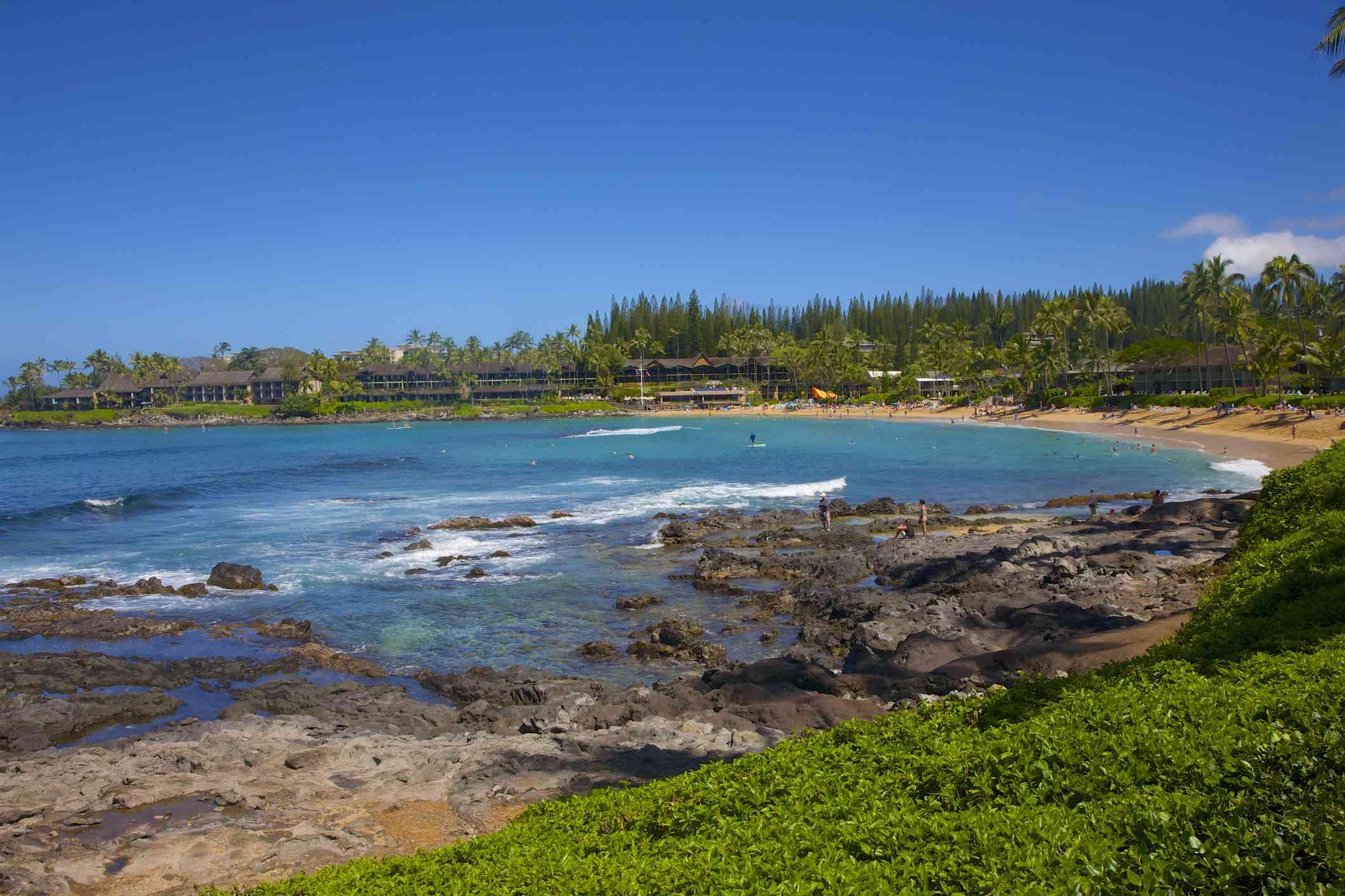 Lava tide pools of Napili Bay on Maui