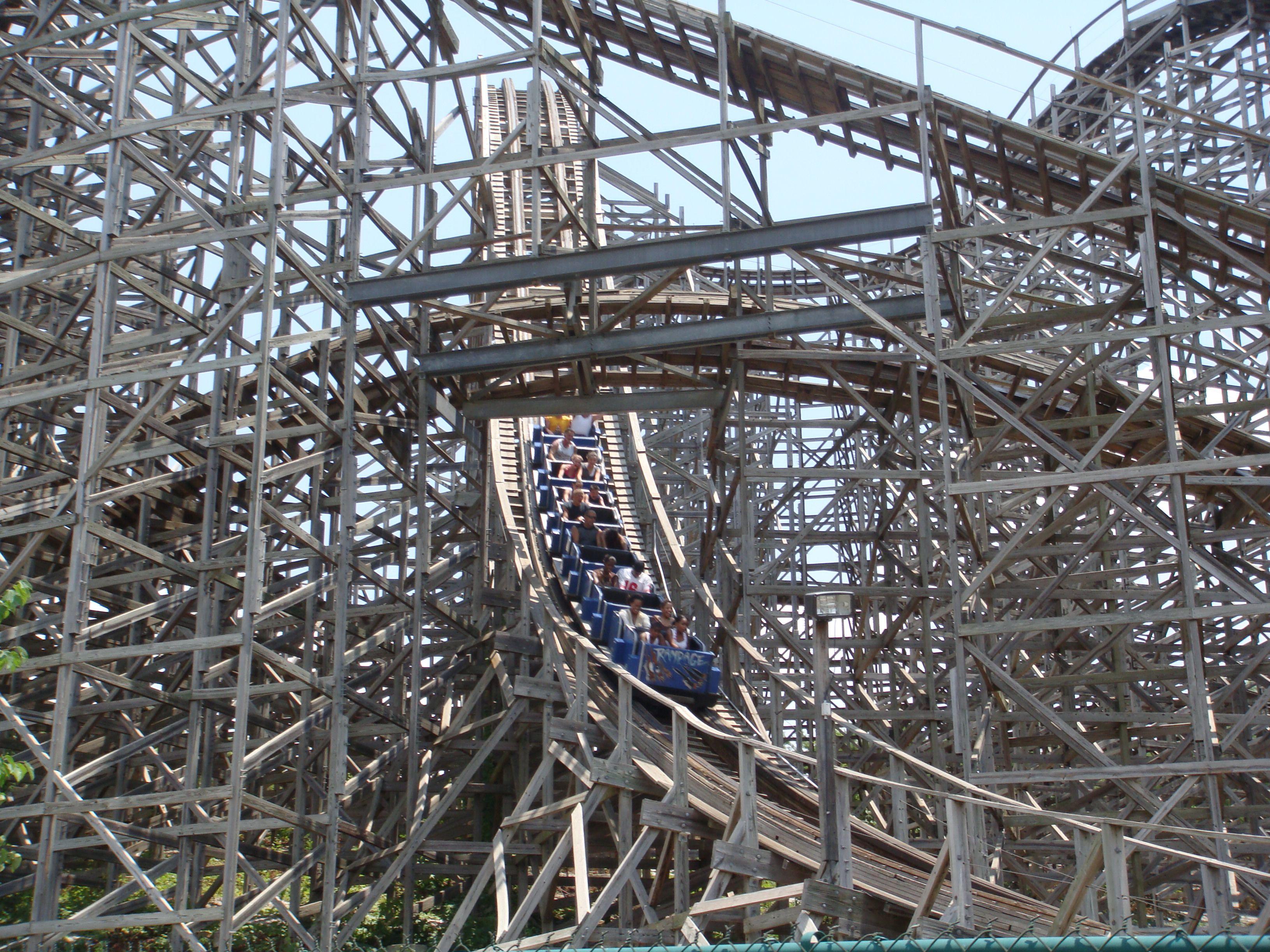 The Rampage roller coaster at Alabama Adventure