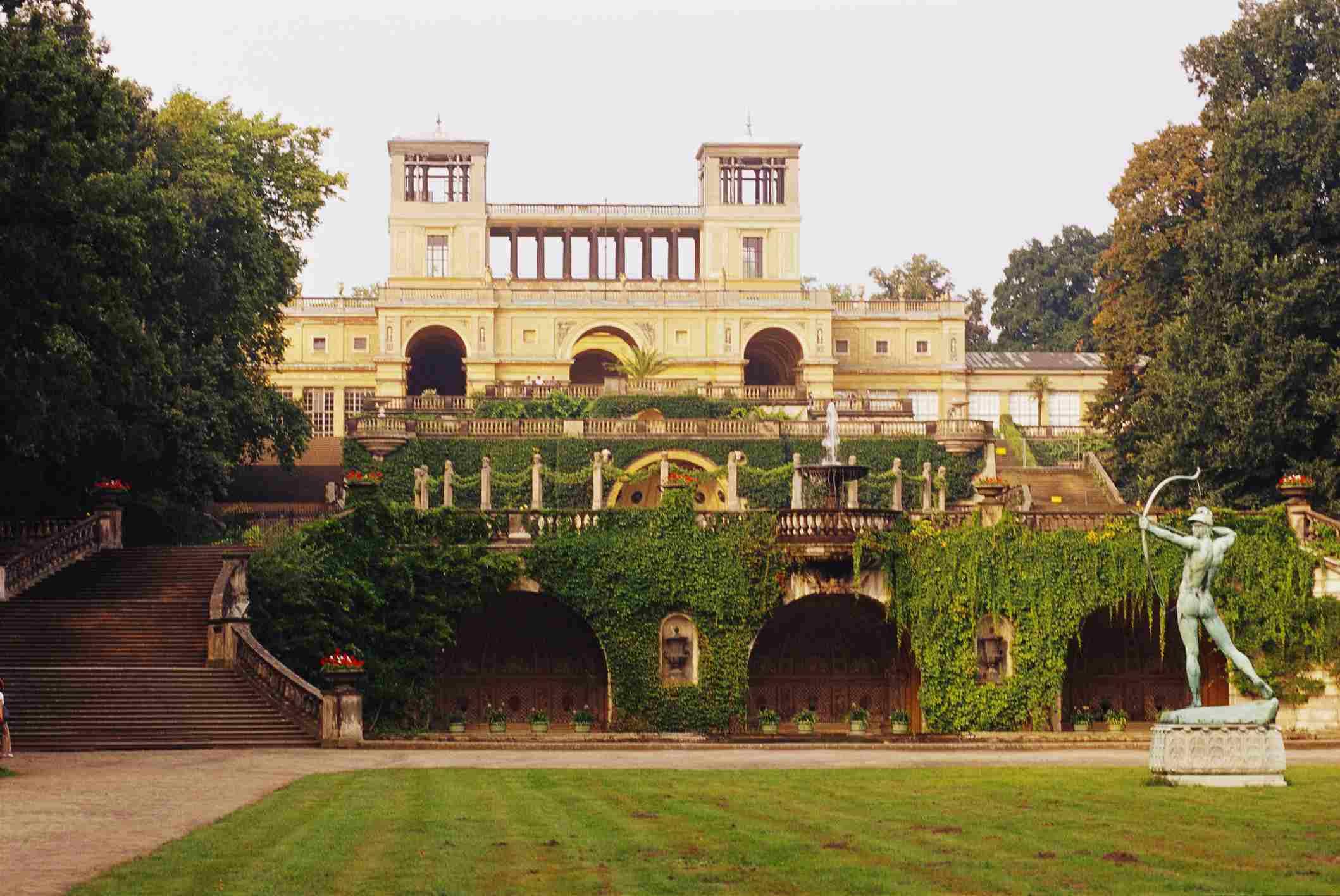 Sansoucci gardens in Potsdam