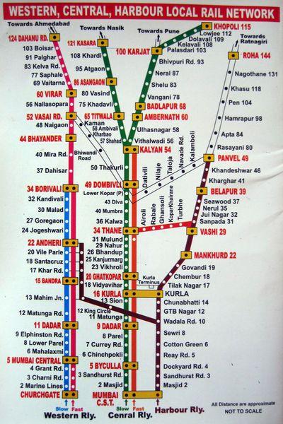 western railway map mumbai Printable Mumbai Local Train Map For Tourists western railway map mumbai