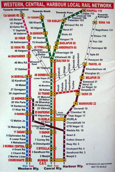 train map of mumbai Printable Mumbai Local Train Map For Tourists train map of mumbai