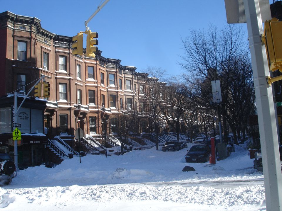 Snowy Brooklyn street