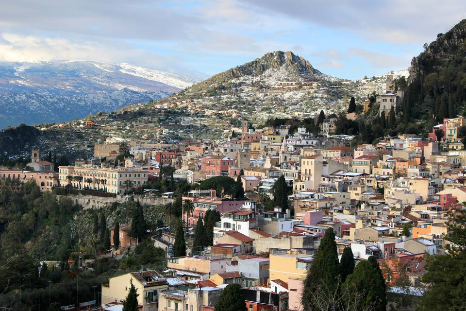 The rooftops of Taormina, Sicily