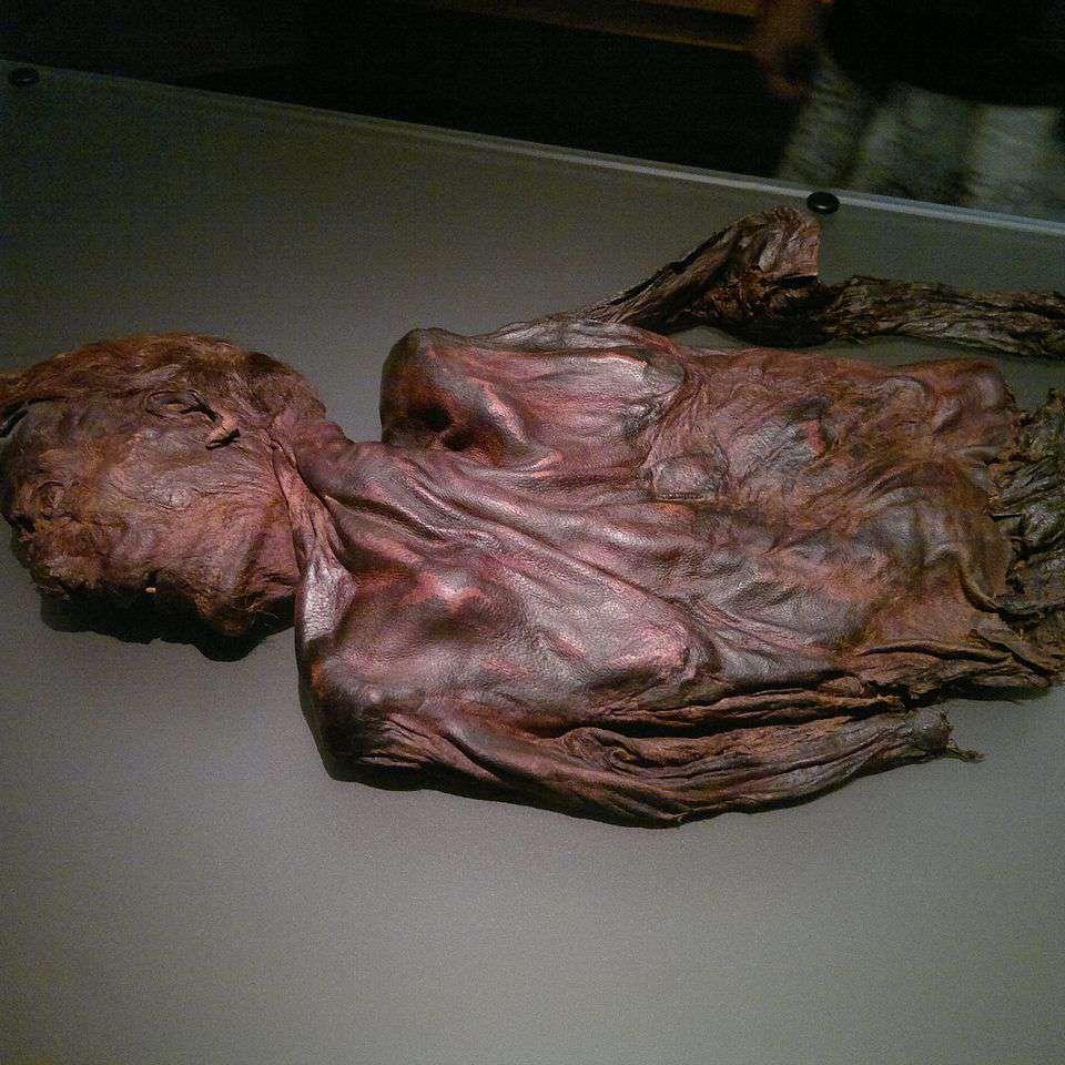 Bog body Clonycavan Man at National Museum of Ireland, Dublin, around 4th or 3rd century BC