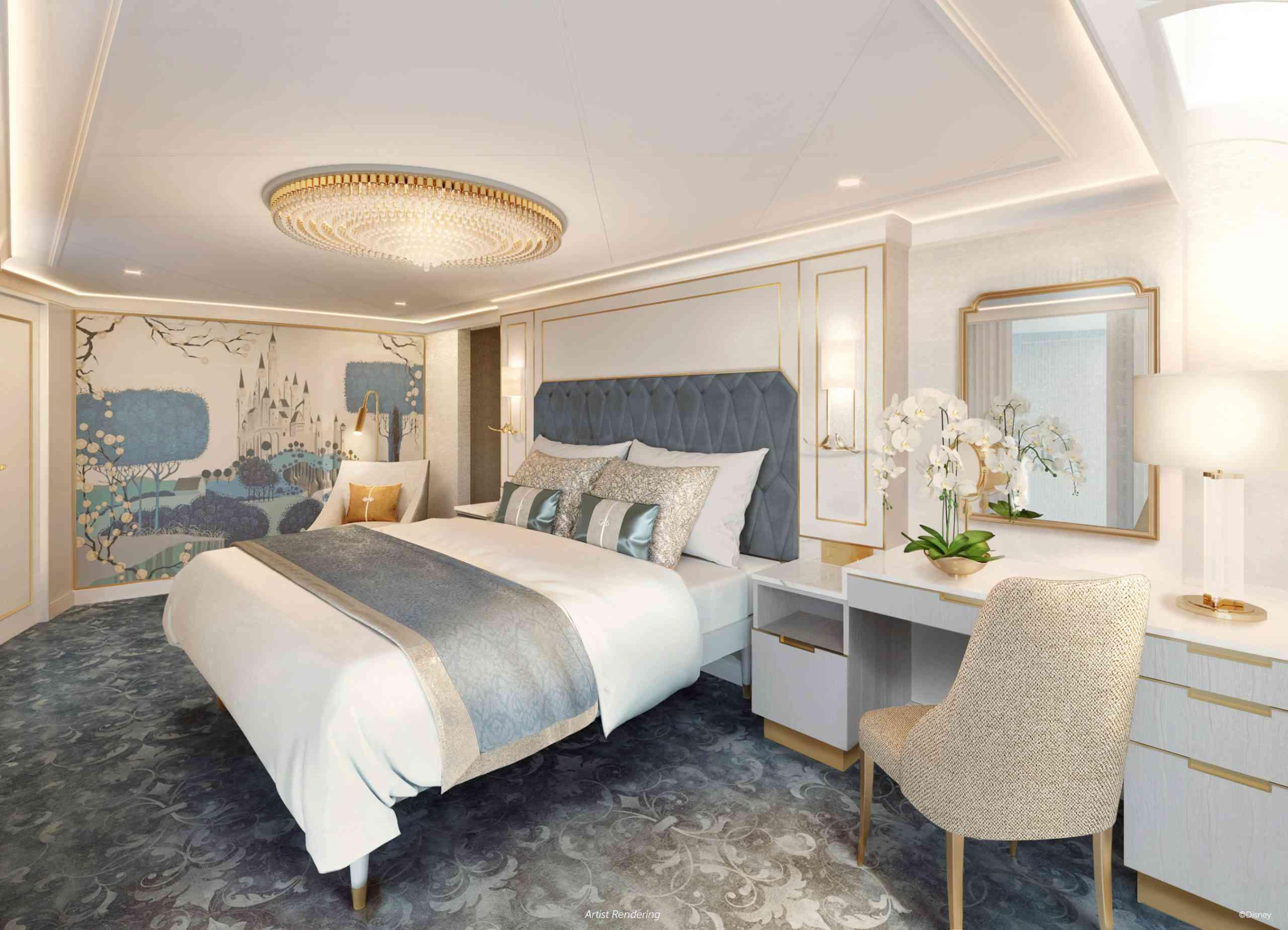 Disney Wish Princess Aurora Royal Suite stateroom
