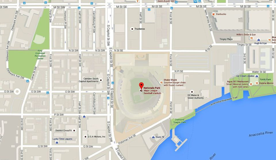 Nationals Park Maps Directions To Dc S Baseball Stadium