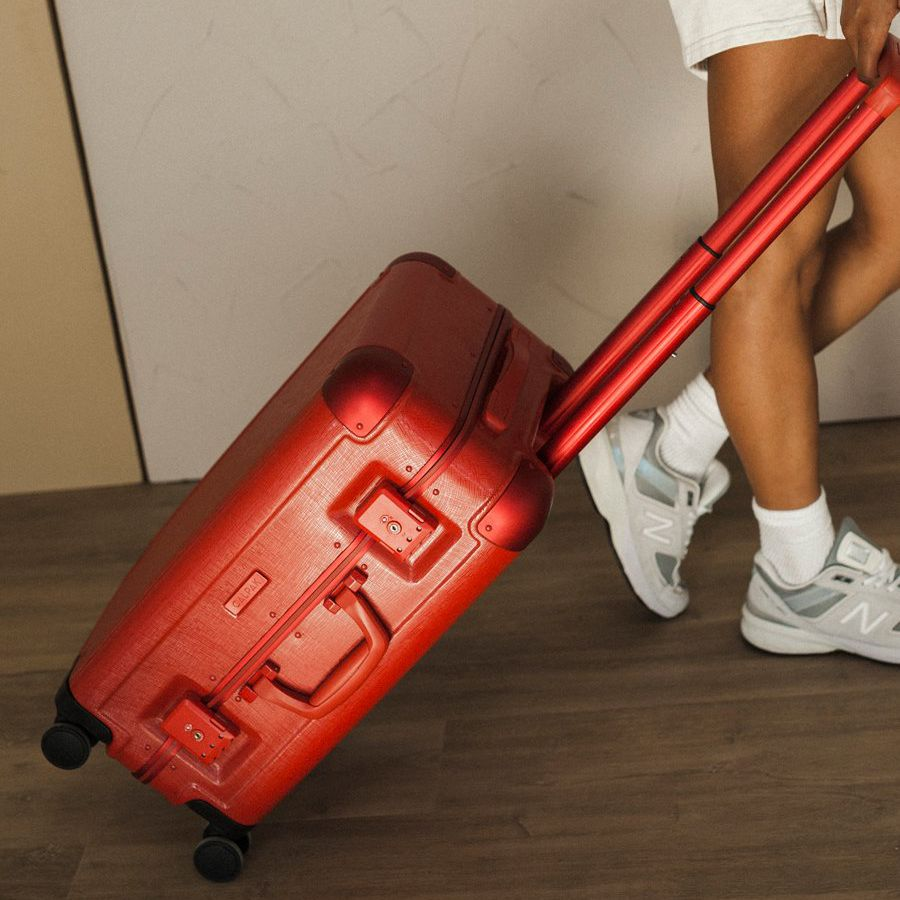 Jen Atkin Carry-on Luggage in red