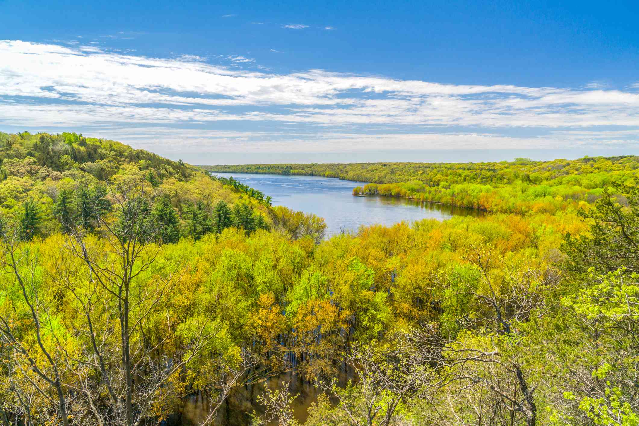 The St. Croix River Valley with fall colors