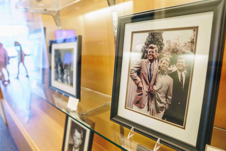 Photo of JFK in the JFK Library