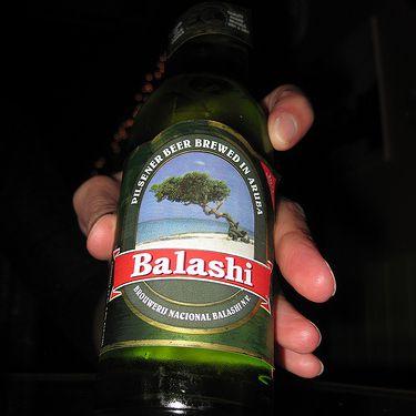 Balashi Beer from Aruba.