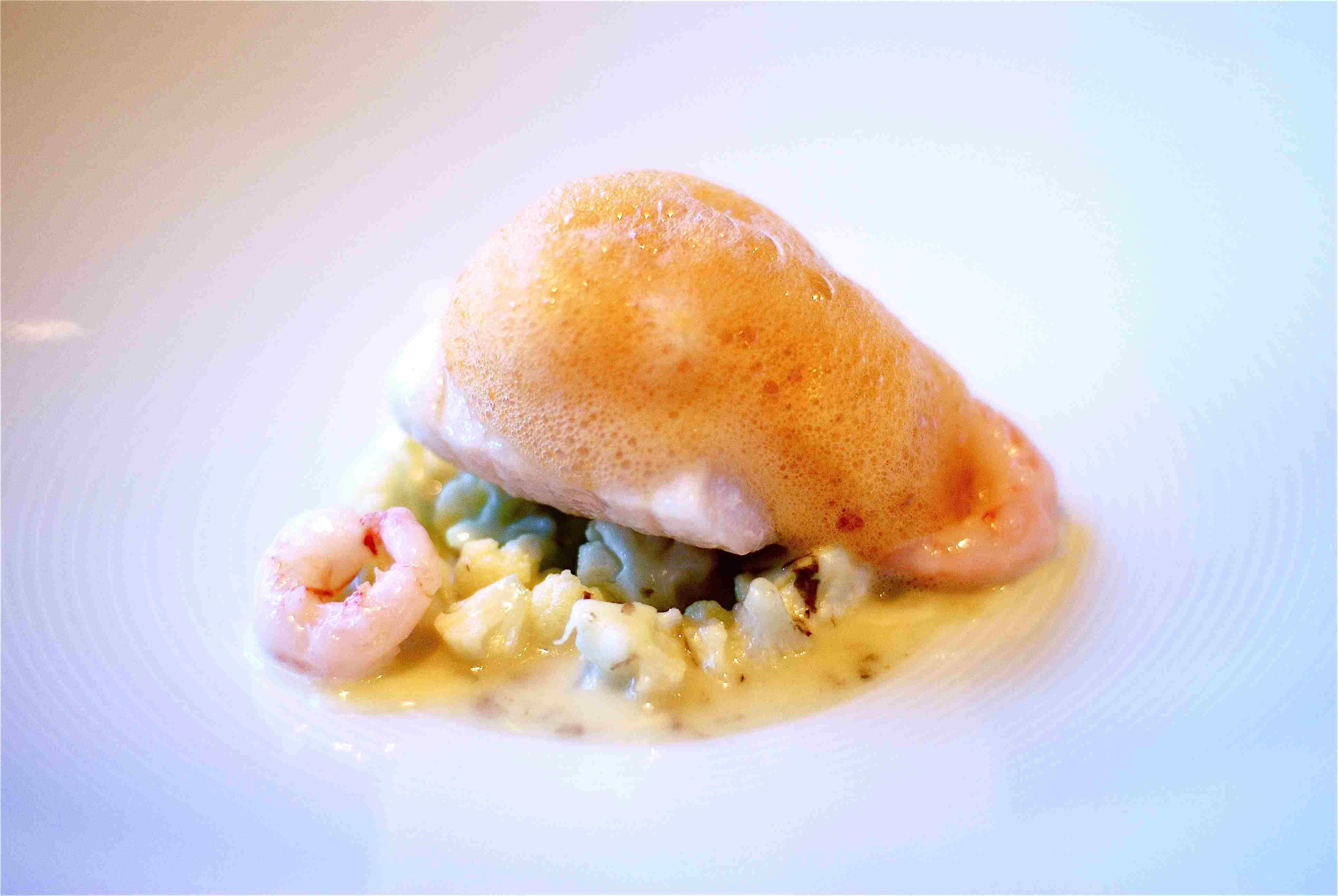 Alaskan Black Cod with Cauliflower at Aubergine Restaurant